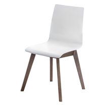 Silla de visita moderna / tapizada / de plástico / de madera