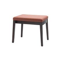 Taburete moderno / de madera / profesional / tapizado