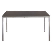 Mesa moderna / de metal / de plástico / de material laminado