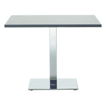 Mesa de reuniones moderna / de metal / rectangular / de interior