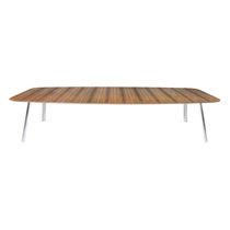 Mesa de conferencia moderna / de madera / de acero / rectangular
