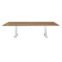 Mesa de conferencia moderna / de madera / de HPL / de acero