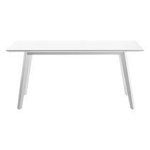 Mesa moderna / de madera / rectangular / ovalada