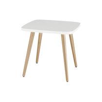 Mesita auxiliar moderna / de madera / redonda / para restaurante