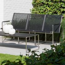 Sofá moderno / de jardín / de Batyline® / de acero inoxidable