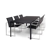 Mesa de comedor moderna / de vidrio / de vidrio templado / de acero inoxidable