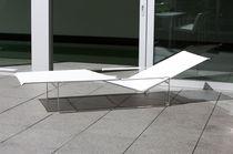 Chaise longue moderna / de Batyline® / de acero inoxidable / de jardín