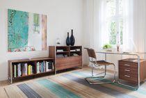 Escritorio de madera / de acero / de diseño Bauhaus / para uso profesional