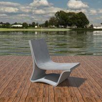 Chaise longue de diseño minimalista / de hormigón de alto rendimiento / para jardín / para piscina