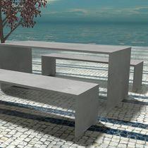 Mesa moderna / de hormigón reforzado con fibra / de hormigón armado / rectangular