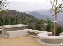 Mesa de pícnic moderna / de hormigón / rectangular / para espacio público
