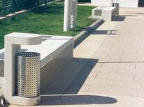 Cubo de basura público / de acero inoxidable / de acero COR-TEN® / de hormigón