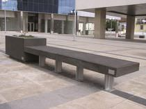 Banco público / moderno / de hormigón / modular