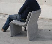 Silla moderna / de hormigón / profesional / para espacio público