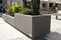 Jardinera de acero inoxidable / de acero COR-TEN® / de hormigón / rectangular
