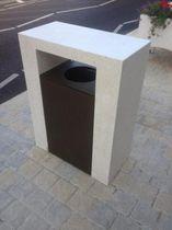 Cubo de basura público / de hormigón / profesional / moderno