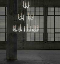 Lámpara araña moderna / de porcelana / LED / hecha a mano