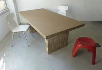 Mesa moderna / de cartón / rectangular