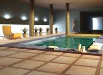 Baldosa de interior / para playa de piscina / de suelo / de gres porcelánico