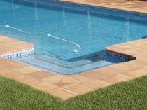 Baldosa para playa de piscina / para suelo / de cerámica / lisa