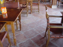 Baldosa de interior / de suelo / de terracota / envejecida