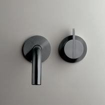 Grifo monomando para lavabo / de pared / de acero inoxidable / de cobre