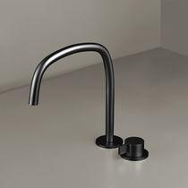 Grifo monomando para lavabo / para ducha / en encimera / de metal cromado