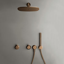 Set de ducha de pared / moderno / con alcachofa / con rociador fijo