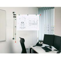 Panel indicador de pared / de interior / magnético / de metal