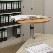 Mesa de trabajo moderna / de metal / de haya / de contrachapado
