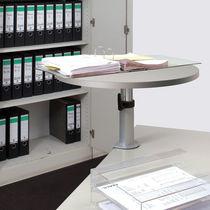 Mesa de trabajo moderna / de acero / de melamina / redonda