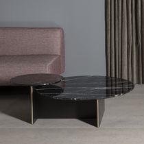 Mesa de centro moderna / de MDF lacado / de mármol / redonda