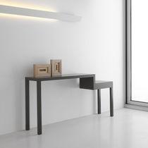 Consola moderna / de madera lacada / rectangular / contract