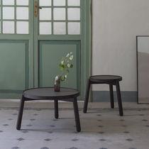 Mesa de centro moderna / de madera maciza / de cerámica / redonda