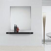 Consola moderna / de roble / de acero inoxidable lacado / rectangular