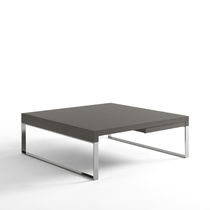 Mesa de centro moderna / de roble / de MDF lacado / de metal