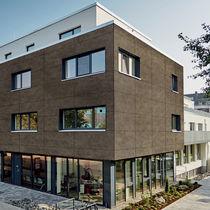 Revestimiento de fachada de panel / de basalto / liso