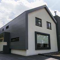 Revestimiento de fachada de basalto / liso / de panel