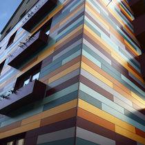 Revestimiento de fachada de material compuesto / lacado / coloreado / liso