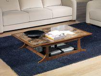 Mesa de centro moderna / de madera / rectangular / de interior