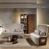Sofá moderno / de terciopelo / de cuero / de madera