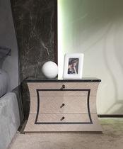 Mesilla de noche moderna / de madera / de mármol / rectangular