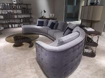 Sofá en arco de círculo / moderno / de tejido / 6 plazas