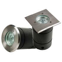 Luminaria empotrable de suelo / LED / redonda / cuadrada