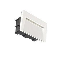 Luminaria empotrable de pared / LED / rectangular / de exterior