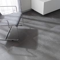 Baldosa para pavimento / de gres porcelánico / mate / aspecto hormigón
