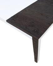 Mesa de diseño original / de madera maciza / de MDF lacado / rectangular