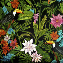 Pintura óleo / mixta / con motivos de flores