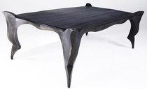 Mesa de diseño nuevo barroco / de roble / de metal patinado / rectangular