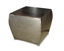 Mesa auxiliar / moderna / de roble / de metal patinado